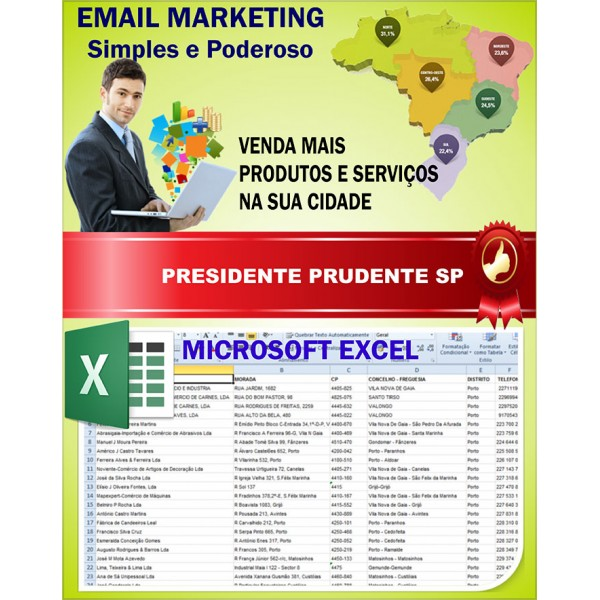 Lista de Emails de Presidente Prudente SP